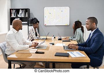 zbiorowa sprawa, grupa, spotkanie, afrykanin