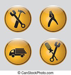 zbudowanie, ikony