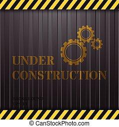 zbudowanie, kontener, tło, pod
