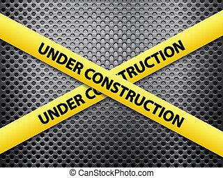 zbudowanie, metal, tło, pod