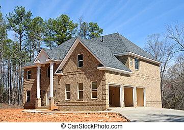 zbudowanie, nowy dom