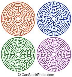 zdezorientować, komplet, okrągły