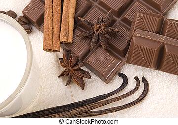 zdrój, czekolada