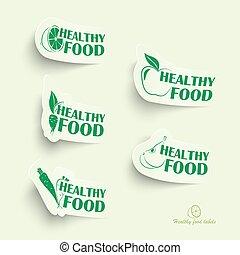 zdrowe jadło, ikony