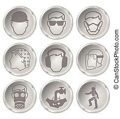 zdrowie, bezpieczeństwo, ikony