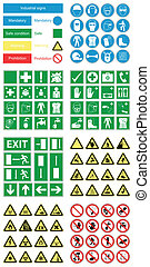 zdrowie, &, bezpieczeństwo, ryzykować, znaki