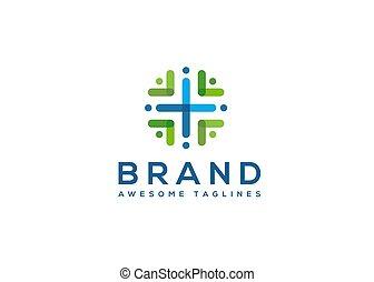 zdrowie, współposiadanie, kolor, logo, abstrakcyjny
