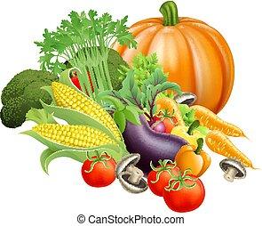 zdrowy, świeża zielenina, produkcja