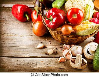 zdrowy, bio, organiczne jadło, vegetables.
