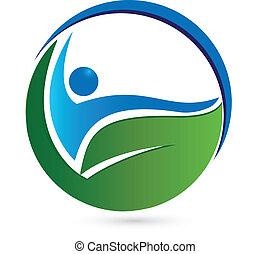 zdrowy, logo, pojęcie