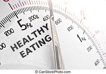 zdrowy, pojęcie, jedzenie
