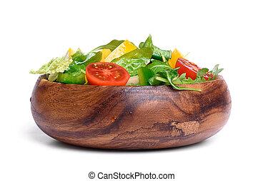 zdrowy, roślina, sałata, jadło.