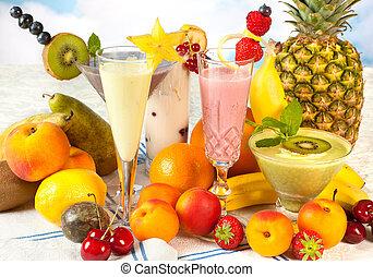zdrowy, smoothies, dieta