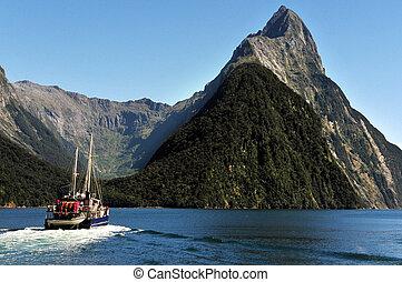 zealand, nowy, fiordland