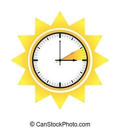 zegar, światło dzienne, czas, słońce, zbawczy, lato