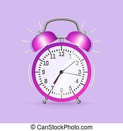 zegar, alarm, klasyk
