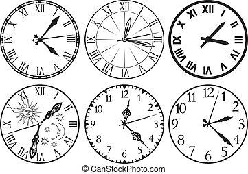 zegar, ikony