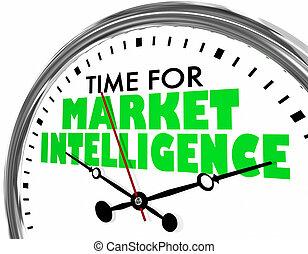 zegar, inteligencja, ilustracja, słówko, czas, targ, 3d