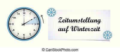 zegar, zima, zmiana, czas