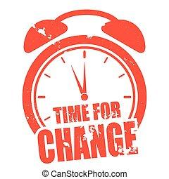 zegar, zmiana, czas