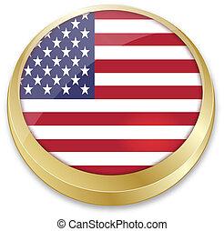 zespołowy stan, guzik, bandera, formułować, ameryka