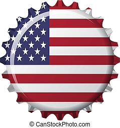 zespołowy stan, korona, korona, bandera, formułować, ameryka
