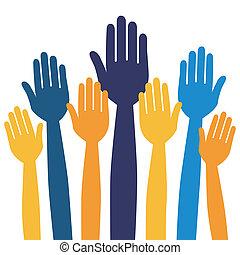 zgłaszanie się na ochotnika, albo, voting., siła robocza