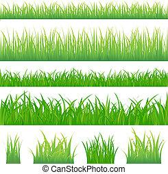 zielona trawa, tła, 4, kępki
