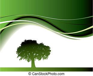 zielone drzewo, tło