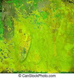 zielony abstrakt, grunge, barwny, tło