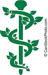zielony, alternatywa, kasownik, kaduceusz, practitioner