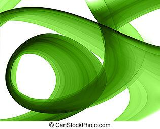 zielony, formacja, abstrakcyjny