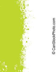 zielony, grunge, splat