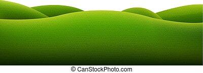 zielony, odizolowany, krajobraz