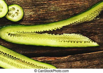 zielony, ogórek