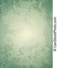 zielony, papier, stary, struktura