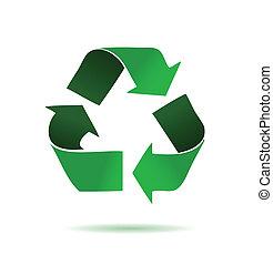 zielony, recycling