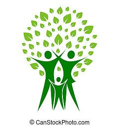 zielony, rodzina