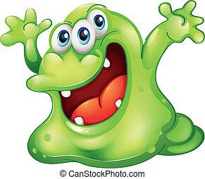 zielony, szlam, potwór