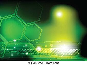 zielony, technologia, tło