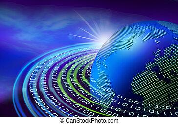 ziemia, świt, cyfrowy