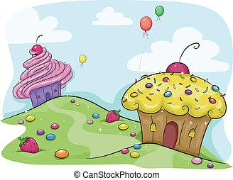 ziemia, cupcake