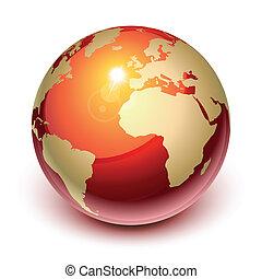 ziemia, czerwony
