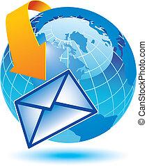 ziemia, email, okrążający