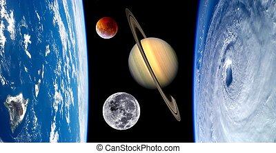 ziemia, kaprys, planety, wszechświat