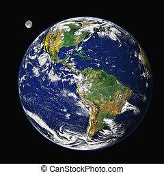 ziemia, &, księżyc