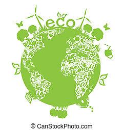 ziemia, zielony, czysty