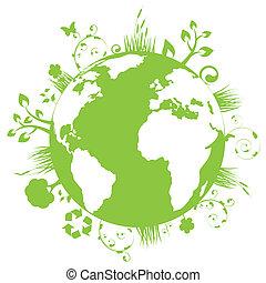 ziemia, zielony