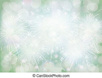 zima, nachylenie, boże narodzenie, zielone tło, brzeg, płatek śniegu