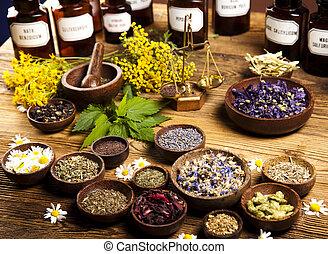 zioła, alternatywna medycyna, zasuszony